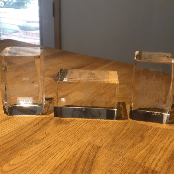 Other - Etched glass paper weights